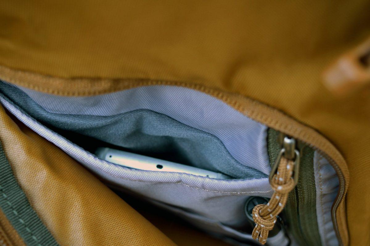 rei rucksack cell phone pocket